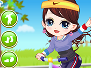 Play The Little Girl Learn Bicycle