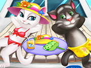 Play Tom And Angela Cat Beach Holiday